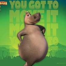 Madagascar 2 Poster: Gloria das Nilpferd
