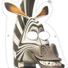 Madagascar 2: Marty the zebra Mask - Kids Craft - BIRTHDAY PARTY - BIRTHDAY crafts - Madagascar 2: Escape 2 Africa Masks