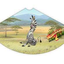 Madagascar 2: Marty the zebra Party Hat - Kids Craft - BIRTHDAY PARTY - BIRTHDAY crafts - Madagascar 2 Party Hats