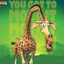 Madagascar 2 Poster: Melman die Giraffe