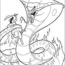 Aladdin und die Schnecke zum Ausmalen