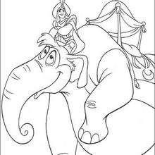 Aladdins Elefant zum Ausmalen
