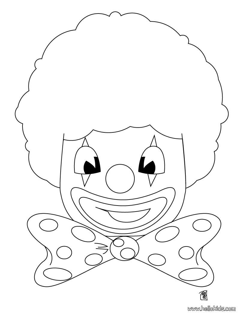 Glücklicher Clown Zum Ausmalen Zum Ausmalen Dehellokidscom
