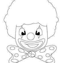 Clownkopf zum Ausmalen