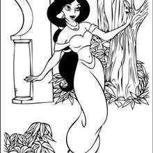 Prinzessin Jasmine tanzt zum Ausmalen