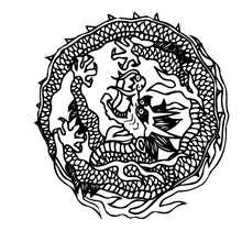 Drachen Mandala zum Ausmalen