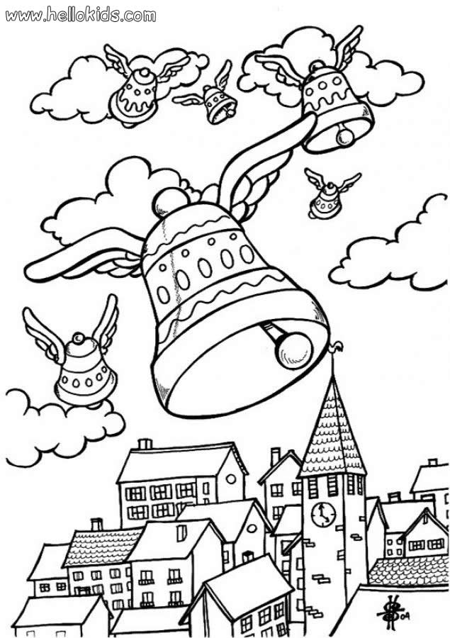 Fliegende osterglocken zum ausmalen zum ausmalen - de.hellokids.com