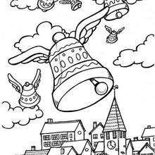 Fliegende Osterglocken zum Ausmalen