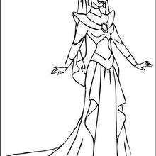Prinzessin Jasmine zum Ausmalen
