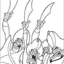 Sultan Soldaten zum Ausmalen