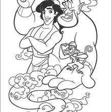 Genie, Abu und Aladdin zum Ausmalen