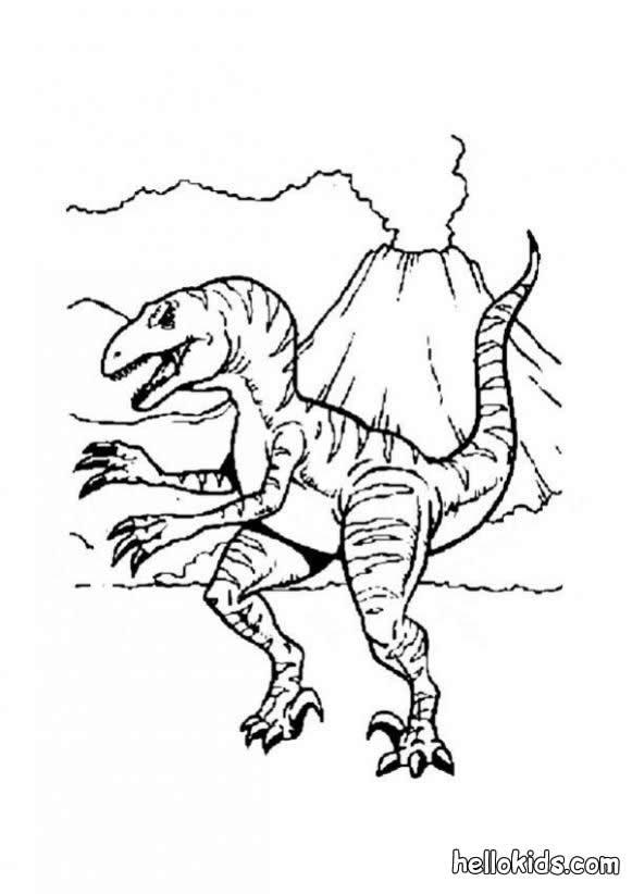 allosaurus und vulkan zum ausmalen zum ausmalen - de