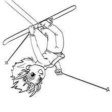 Ana die Skiakrobatin zum Ausmalen