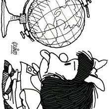 Böse Mafalda zum Ausmalen