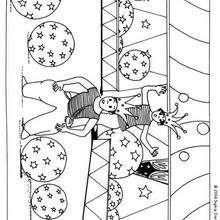 Akrobat mit Ballons zum Ausmalen
