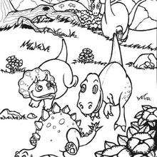 Dinosaurierjunge zum Ausmalen: Stegosaurus, Tyrannosaurus ...