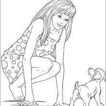 Barbies Hund zum Ausmalen