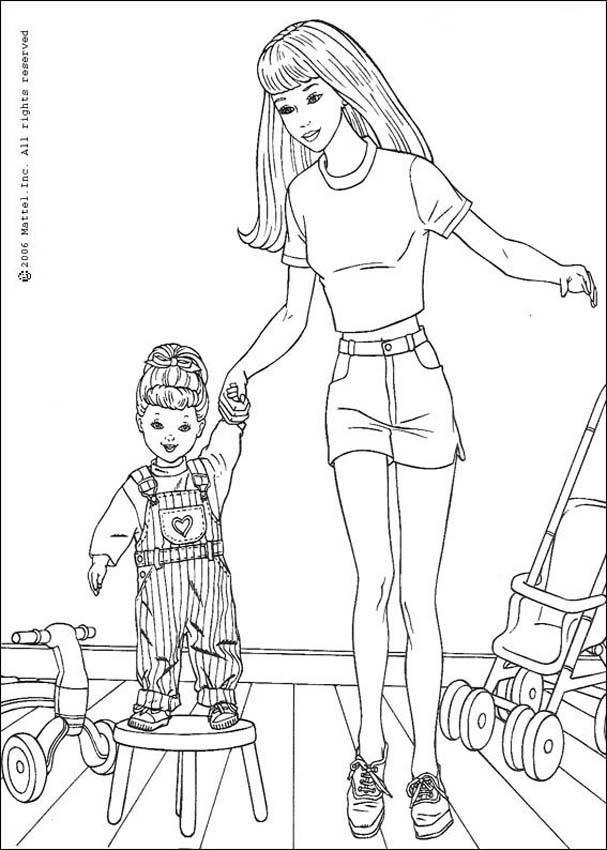 Barbie fee zum ausmalen zum ausmalen - de.hellokids.com