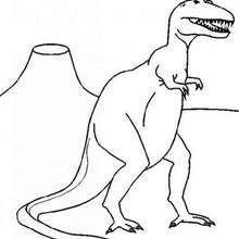 Großer Tyrannosaurus zum Ausmalen