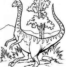 Seltsamer Dinosaurier zum Ausmalen