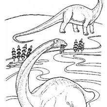 Brachiosaurus zum Ausmalen