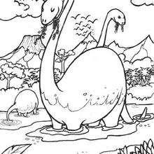 Brontosaurus im Wasser zum Ausmalen