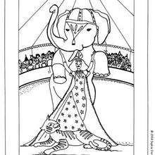 Zirkuselefant zum Ausmalen
