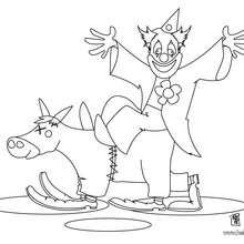 Clown und Esel zum Ausmalen