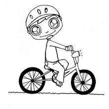 Radfahren zum Ausmalen