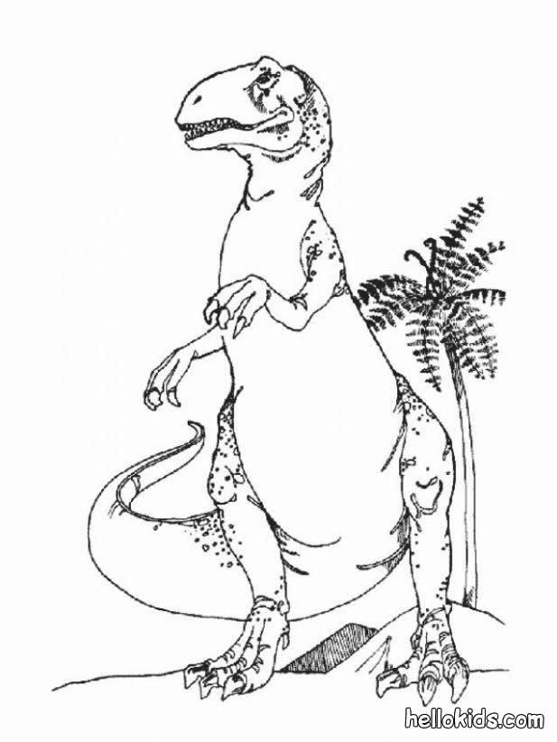 Gefährlicher tyrannosaurus zum ausmalen zum ausmalen - de