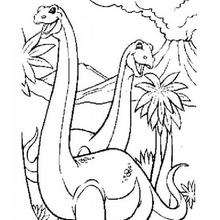 Dinosaurierpärchen zum Ausmalen