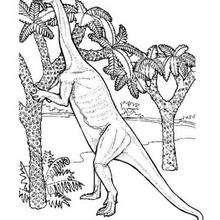Dinosaurier frisst Blätter zum Ausmalen