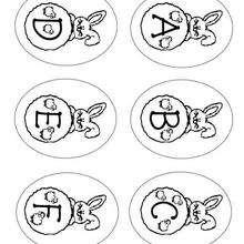 Hasenbuchstaben: A B C D E F