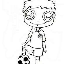 Fussballspieler zum Ausmalen