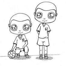Handball zum Ausmalen