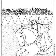 Reiter zum Ausmalen