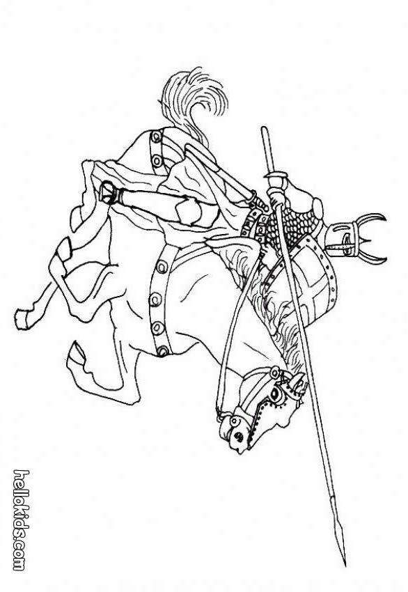 fiver knights coloring pages | Ritter zum ausmalen zum ausmalen - de.hellokids.com