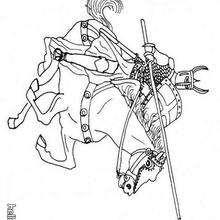 Ritter zum Ausmalen