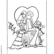 Hochzeitstag zum Ausmalen