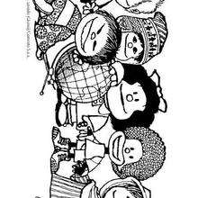 Mafaldas Freunde zum Ausmalen