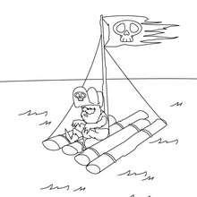 Piratenfloß zum Ausmalen
