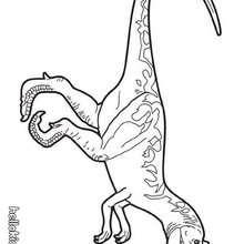 Prähistorischer Allosaurus zum Ausmalen