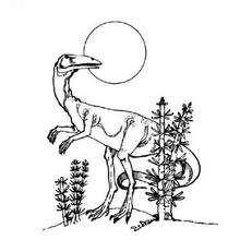 Prähistorischer Dinosaurier zum Ausmalen