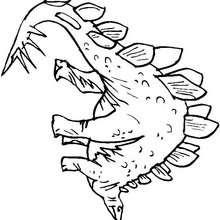 Prähistorischer Stegosaurus zum Ausmalen