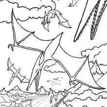 Pterodactylus zum Ausmalen