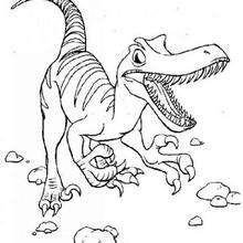 Laufender Tyrannosaurus zum Ausmalen
