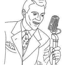 Sänger zum Ausmalen