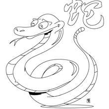 Das Jahr der Schlange zum Ausmalen