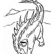 Gefährlicher Stegosaurus zum Ausmalen