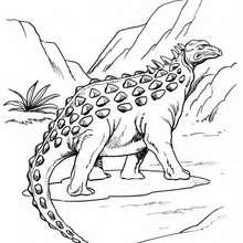 Seltsamer Ankylosaurus zum Ausmalen